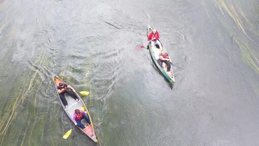 Hire a Canoe canoeists under Arley Bridge River Severn