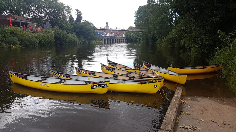 Hire a Canoe yellow canoes frankwell shrewsbury shropshire