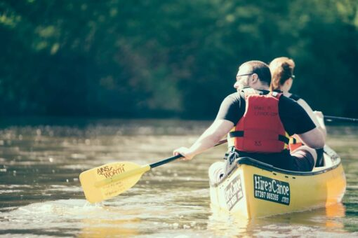 Canoe Hire on the River Severn yellow canoes Bridgnorth