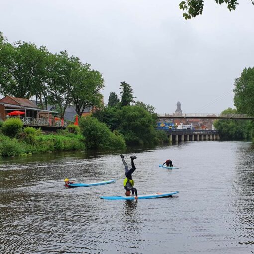 Hire a Canoe Shrewsbury SUP Hire Frankwell Shropshire River Severn SUP Lesson Instructor