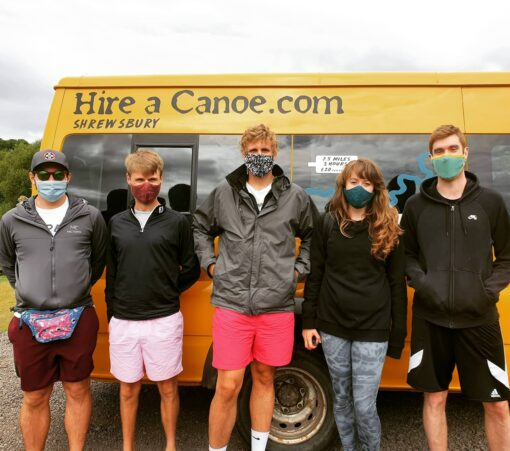Hire a Canoe Shrewsbury free minibus transport