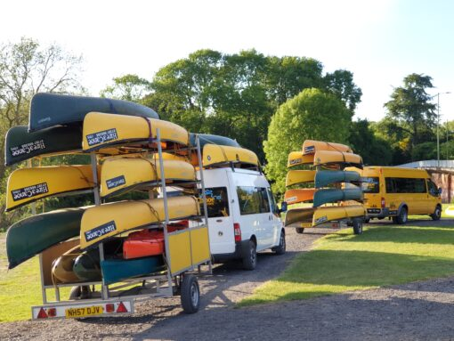 Hire a Canoe free minibus transport Bewdley River Severn