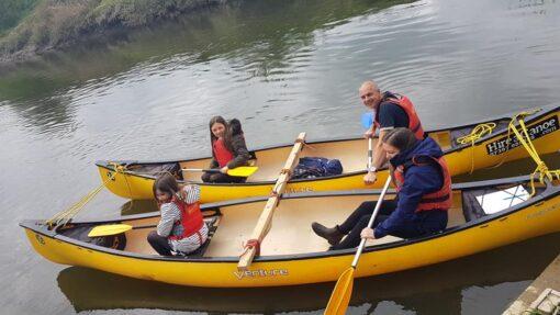 Hire a Canoe rafted canoe Hampton Loade River Severn safe family