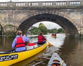 Shrewsbury Paddle About 2-Hour Canoe Hire