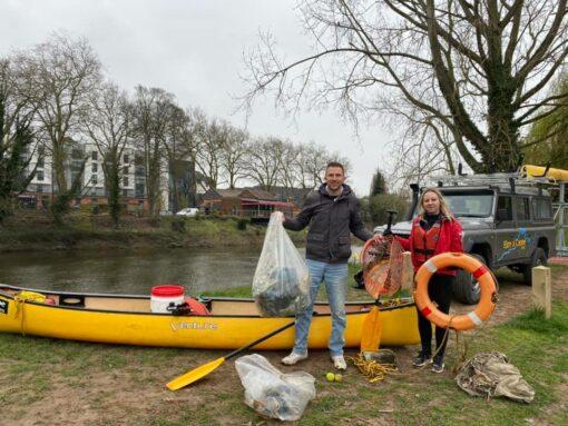 Hire a Canoe Litter Pick Shrewsbury town centre