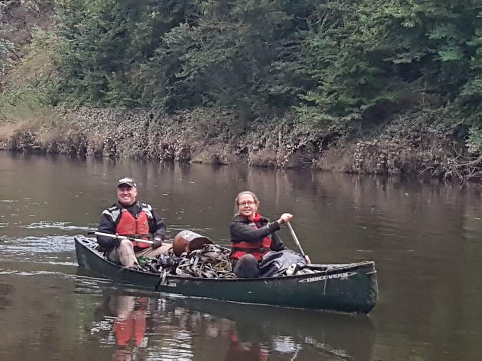 Hire a Canoe Litter Pick full boat