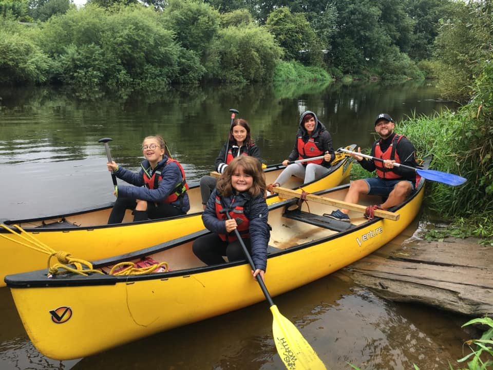 Hire a Canoe rafted canoe for safety for family canoe hire