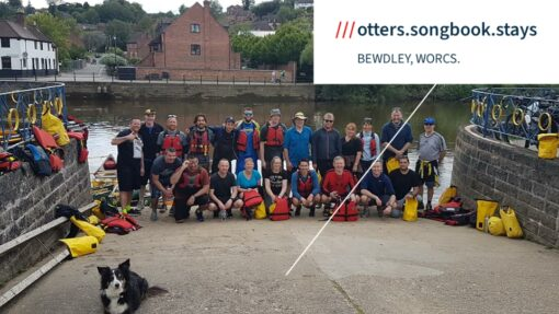 Hire a Canoe Bewdley where to meet what2words otters.songbook.stays
